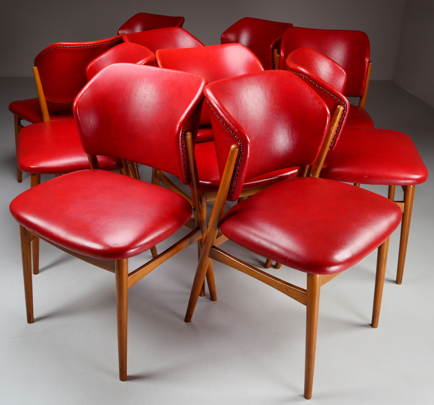 9x mid century modern dining chairs by Spahn Stadtlohn, Germany ...