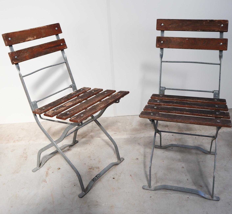 7 vintage garden chairs germany Mid-7th century - Davidowski