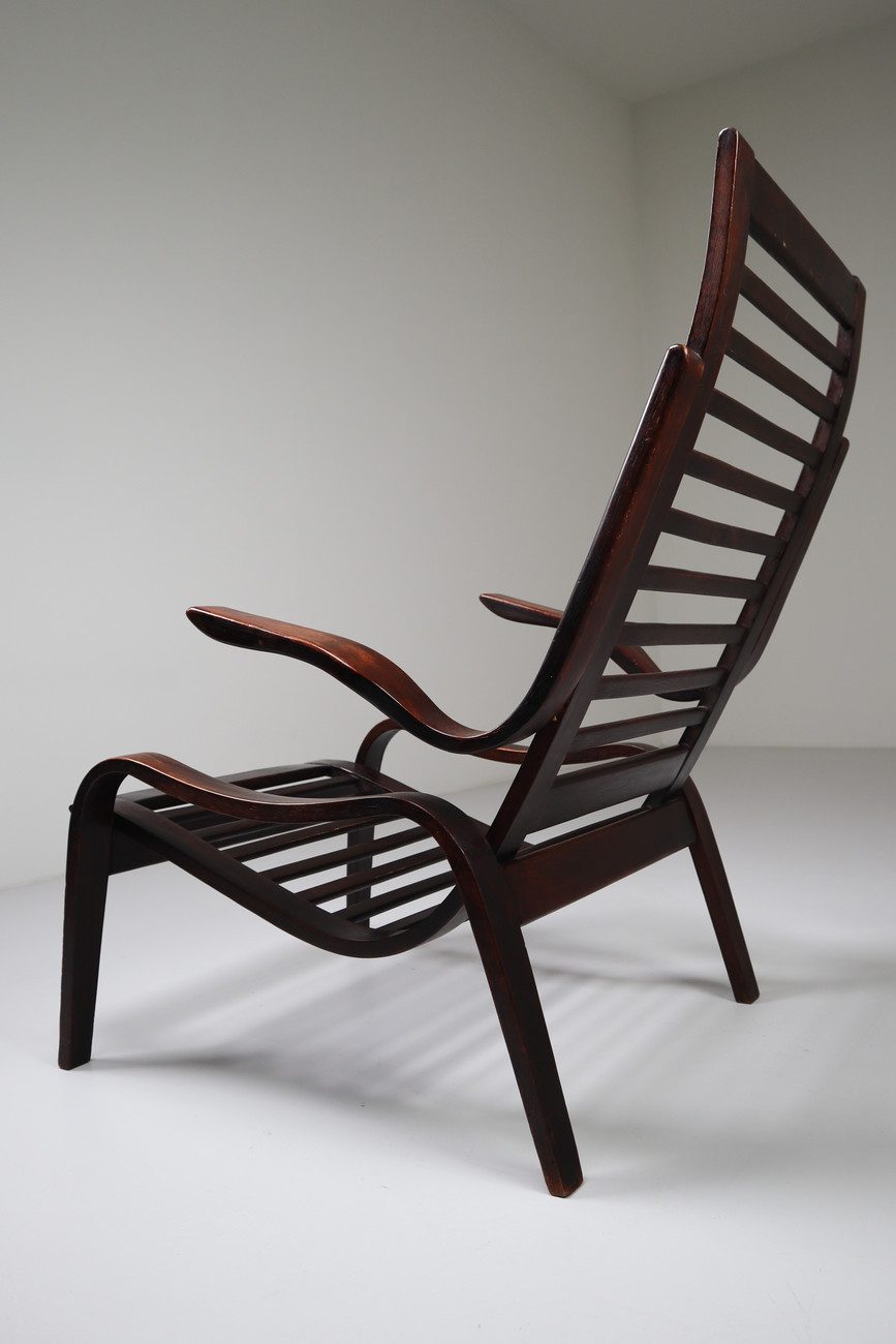 Image of: Bentwood Patinated Lounge Chairs In Bentwood Jan Vanek Czech Republic 1950s Mid 20th Century Davidowski Recent Added Items European Antiques Decorative
