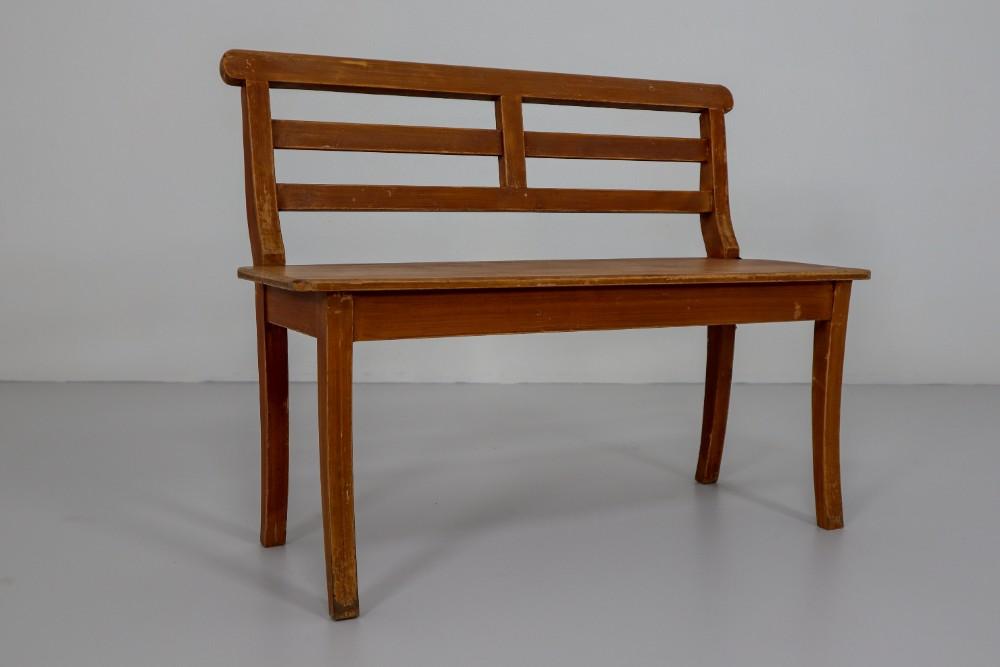 Astonishing Elegant 19Th Century German Antique Hall Bench In Pine Spiritservingveterans Wood Chair Design Ideas Spiritservingveteransorg