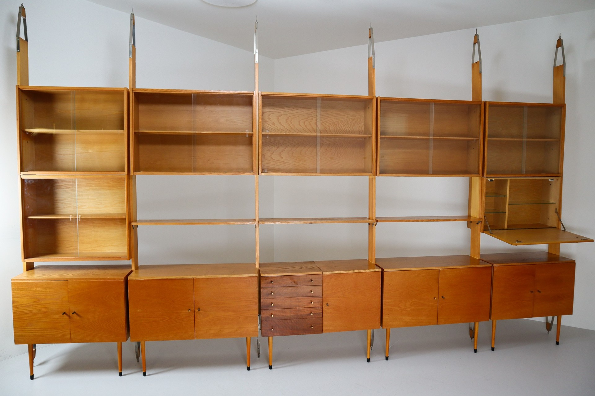 Image of: Large Mid Century Modern Wall Unit Or Bookshelf Praque 1960s Mid 20th Century Modernism Items By Category European Antiques Decorative