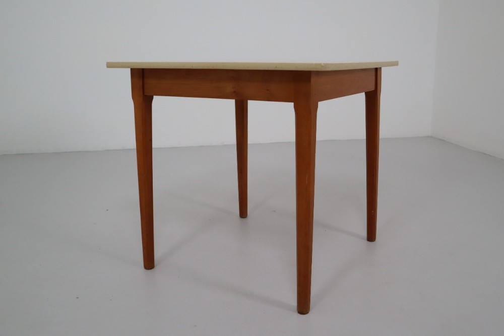 Mid Century Modern Cafe Table In Wood