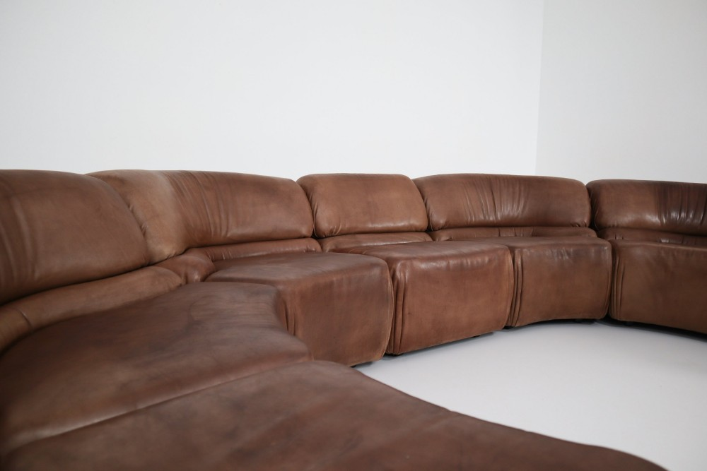 Tremendous Mid Century Modern De Sede Brown Cosmos Sectional Sofa In Creativecarmelina Interior Chair Design Creativecarmelinacom