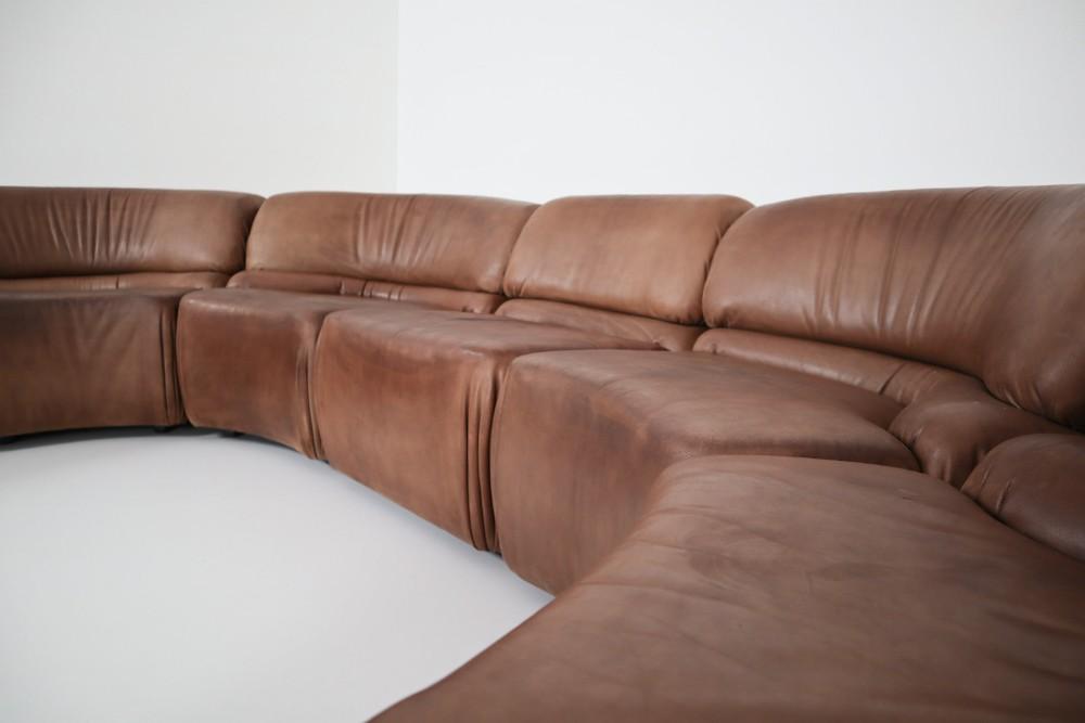 Marvelous Mid Century Modern De Sede Brown Cosmos Sectional Sofa In Creativecarmelina Interior Chair Design Creativecarmelinacom