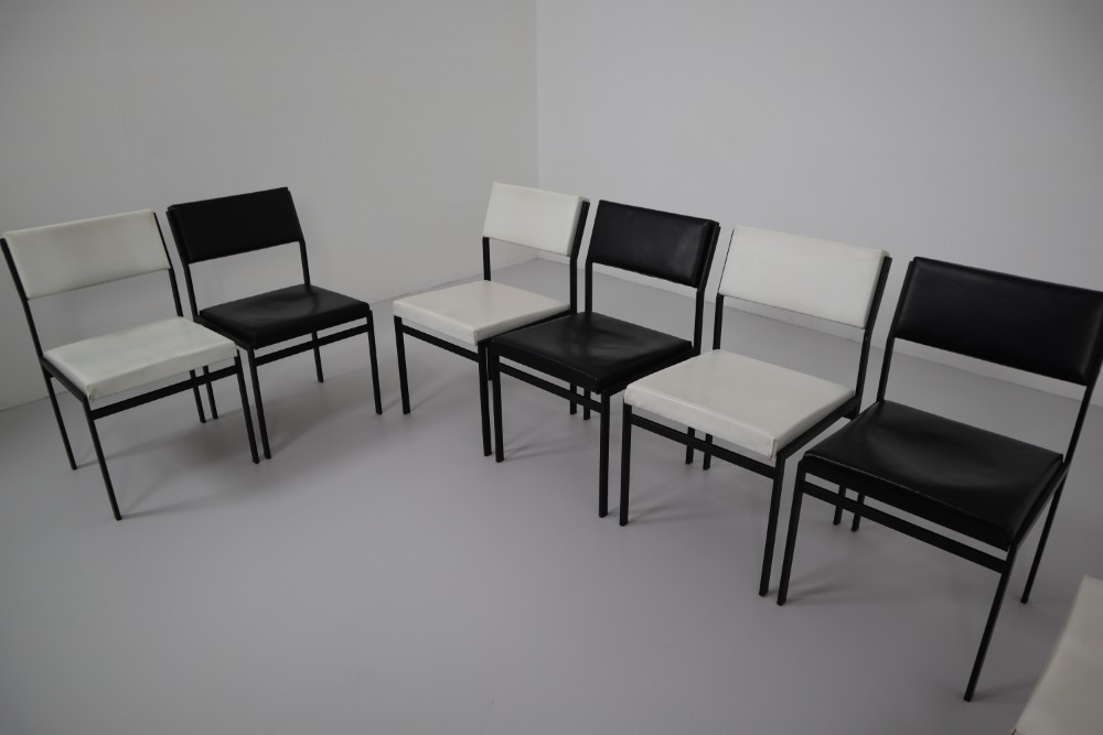 Miraculous Mid Century Modern Faux Leather Japanese Series Dining Ibusinesslaw Wood Chair Design Ideas Ibusinesslaworg