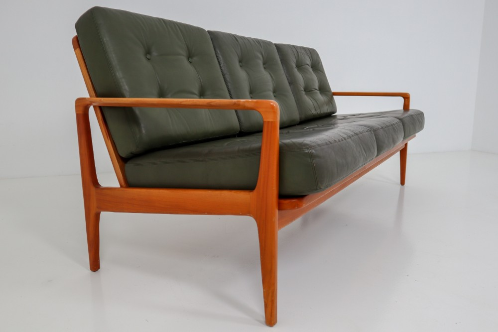 Midcentury Danish Three Seat Sofa By
