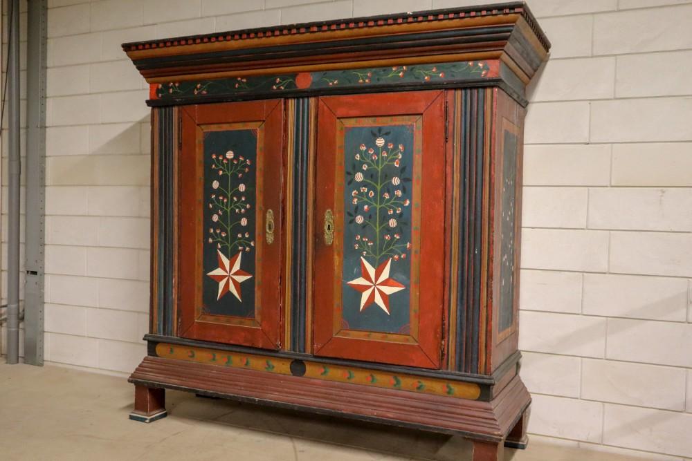 Primitive Pine Original Painted Armoire