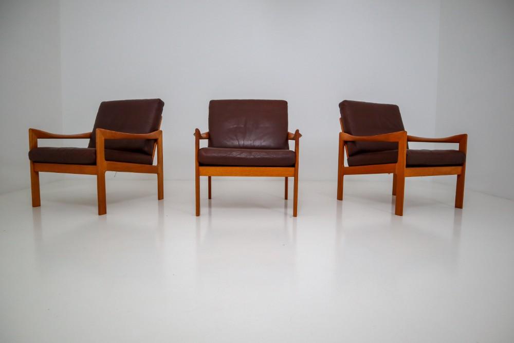 Tremendous Scandinavian Modern Leather Wood Illum Wikkelso Three Seat Unemploymentrelief Wooden Chair Designs For Living Room Unemploymentrelieforg