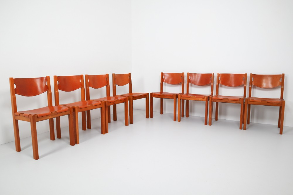 Prime Scandinavian Modern Set Of Eight Cognac Leather Dining Dailytribune Chair Design For Home Dailytribuneorg