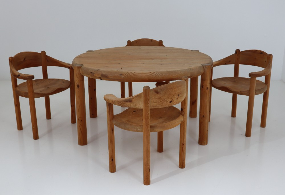 Groovy Six Midcentury Dining Room Chairs In Pinewood By Rainer Cjindustries Chair Design For Home Cjindustriesco